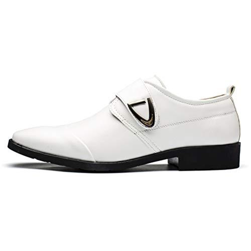Homme Chaussure de Ville en Cuir Habillé Souple de Velcro sans Lacet Grande Taille Chaussure de Travail Casual Confortable