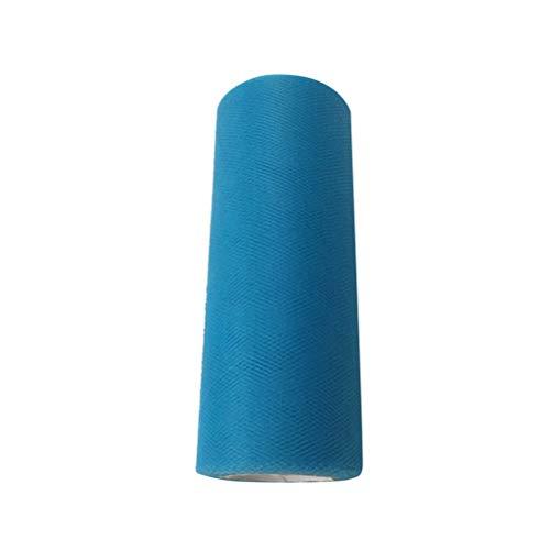 MEIDI Home Tulle Rouleau Tutu Spool Emballage Cadeau Artisanat Bridal Bow Table Runner Chaise Ceinture Décoration De Mariage (Bleu) 25 Mètres