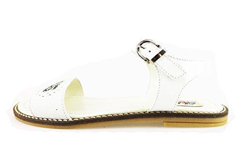 CESARE PACIOTTI 4US sandali bambina bianco pelle strass AH934 (28 EU)