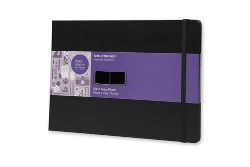 Moleskine FO1A5 Album mit schwarzen Seiten A4, Hardcover schwarz (Pocket Blatt Corner)