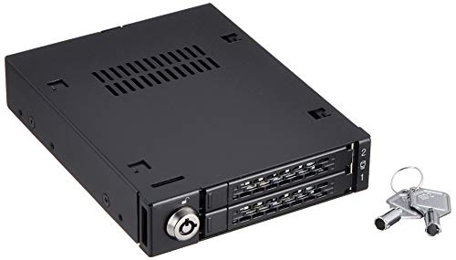 Icy Dock ToughArmor MB992SK-B - Wechselrahmen für 2x 2,5 Zoll (6,4cm) SATA SSD/HDD in 1x 3,5 Zoll (8,9cm) - Vollmetall - Sata-wechselrahmen