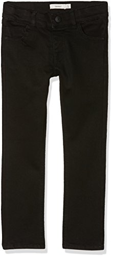 NAME IT Jungen Jeans Nkmtheo Twitage Pant AT Noos, Grau (Black), 116