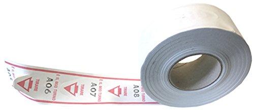 Sa.Ba.Cart 43000402004 Confezione 40 Rotoli da 2000 Tickets Eliminacode Coda di Rondine, Rosso