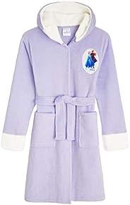 Disney - Vestaglia di Frozen 2 con Anna ed Elsa, vestaglia in morbido pile per ragazze, con cappuccio, per bam