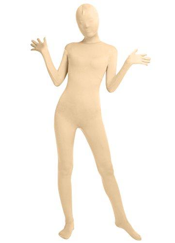 Frauen-Fit Ganzanzug Spandex One Piece Ganzkörper Zentai Kostüm Lycra Bodysuit (L, nude)
