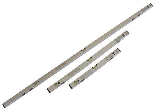Preisvergleich Produktbild Wasserwaagen Set - 60 / 100 / 200 cm magnetisch - mit hoher Genauigkeit (0, 5mm / 1m)