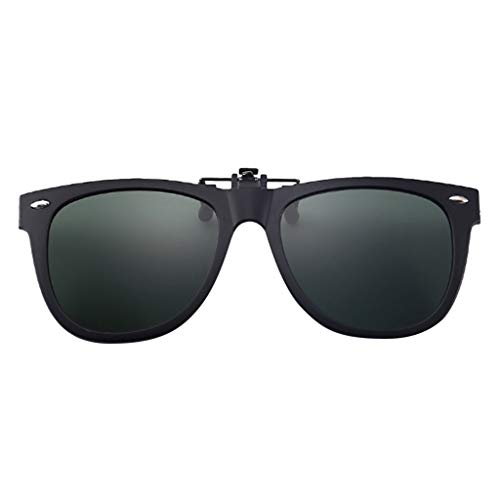 Lazzboy Polarisierte Sonnenbrillen Mit Clip Blendschutz Für Korrekturbrillen Nacht Vision Brille, Unisex Sportbrille, Polarisiert Sonnenbrille, Fahrbrille Radbrille Gelben Gläsern (Armeegrün)