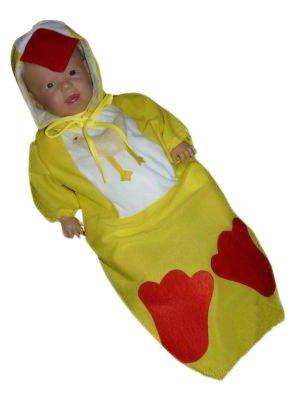 AN39 Taglia 4-9M (68-74 cm) Costume da Pulcino per bambini e neonati Carnevale Costumi