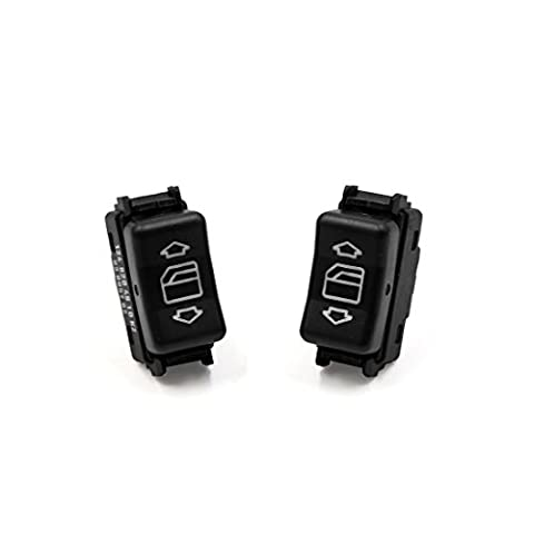 sourcingmap® 2pcs Front Left Car Electric Power Window Switch Lifter Button for Mercedes Benz