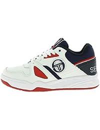 e56becbf93 Sergio Tacchini Men's STM822005-WHITE-NAVY-RED Trainers