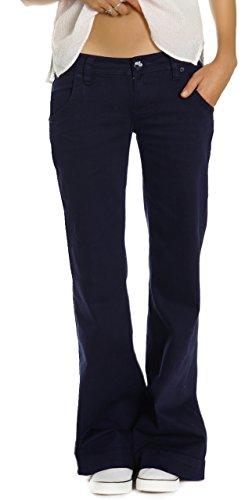 Bestyledberlin - Pantaloni donna, jeans bootcut, delle donna jeans j52e 36/S Marine