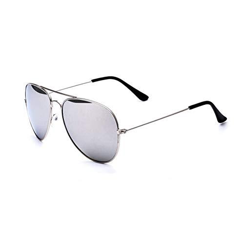 YOURSN Fashion Designer Sonnenbrillen Männer Vintage Pilot Sonnenbrillen Männer Frauen Metallrahmen Sonnenbrillen Aviator Mirror Retro Eyewear-Silver