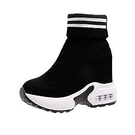 Scarpe da Ginnastica con Zeppa Interna Donna, Stivali da Donne con Suola in Gomma Antiscivolo Comodo Sneakers da Ragazza…
