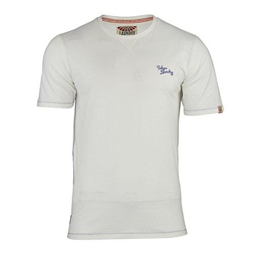 Tokyo Laundry Herren T-Shirt Gebrochenes Weiß