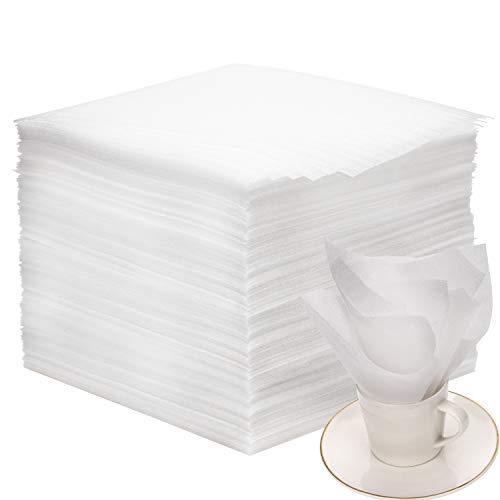 AIEX Schaumfolie Verpackung Seidenpapier Einpackpapier Umzug Packschaum für Kartons Umzug Geschirr Gläser Weinflaschen Versand(80 Stücke,13x13x0.05 Zoll)