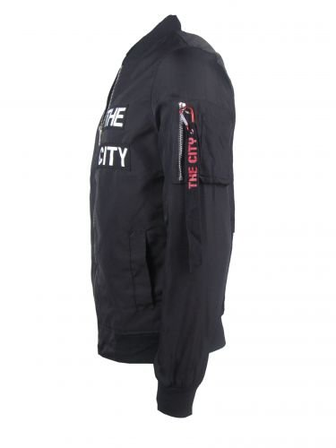 "Light Bomberjacket ""THE CITY"" – schwarz - 3"
