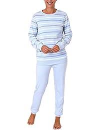 f9d91ea950662c Damen Pyjama lang mit Bündchen in Kuschel Interlock - auch in Übergrössen  281 201 96 225