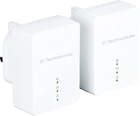 Technomate 200 Mbps HomePlug AV Powerline Adapter Starter Kit (Pack