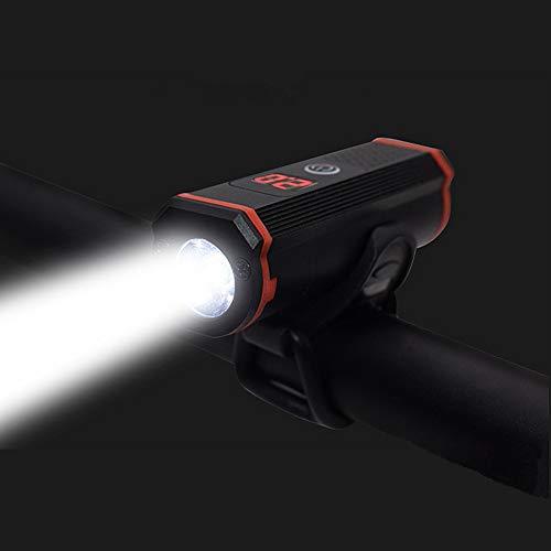 WASAGA Luz de Bicicleta, USB Recargable Bicicleta Ciclismo Faro Delantero Bicicleta Luz de Bicicleta de montaña Luz de 1000 lúmenes LED Linterna LED con 5 Modos, IP65, indicador de alimentación