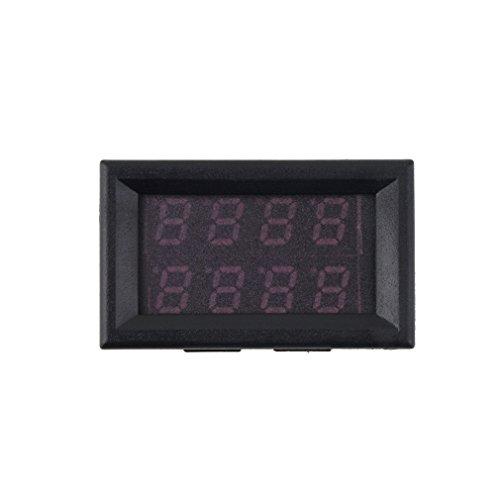 Ulable DC 0-30V 10A Voltmeter Amperemeter Blau + Rot LED Panel Amp Digital Volt Gauge Meter 10 Gauge Amp