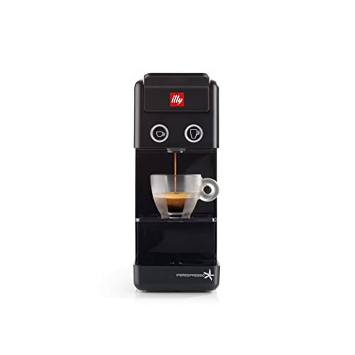 31QP CMyq1L. SS500  - illy Coffee Maker Machine Y3.2, Espresso & Filter Capsules Coffee Machine, Compact Design, Black