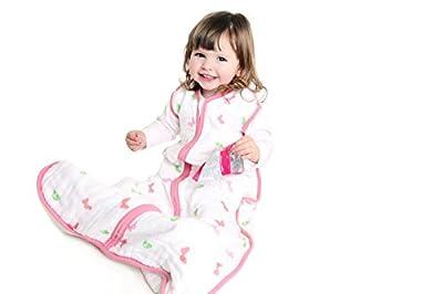 El saco de dormir para verano Slumbersac para bebés, de aprox. 0.5 Tog - Mariposas - en varios tamaños: desde el nacimiento hasta 6 años