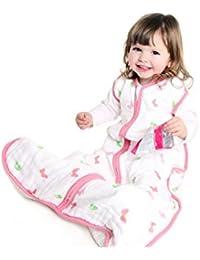 Slumbersac Baby Muslin Summer Sleeping Bag for Girls (0 - 6 Months, 0.5 Tog, Butterfly)