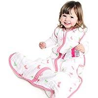 El saco de dormir para verano Slumbersac para bebés, de aprox. 0.5 Tog – Mariposas – en varios tamaños: desde el nacimiento hasta 6 años
