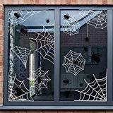 Jollylife 60pcs Halloween Spider Web Fenster klammert Sich an Aufkleber-Spinnen Haunted House Party Dekorationen Ornaments