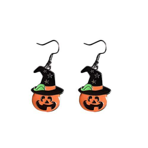 stige Ohrringe Wild Kreative Persönlichkeit Kürbis Perle Ohrstecker 1 Paar, Legierung, Pumpkin Magic Hat, 2-8cm ()