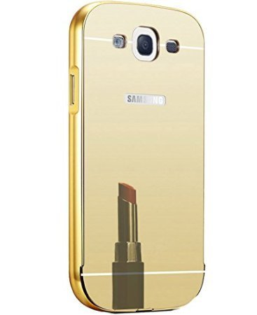 SEDOKA Premium Luxury Metal Bumper Acrylic Mirror Back Cover Case For Samsung Galaxy Grand Duos i9082 - Gold Perfect Fit  available at amazon for Rs.299