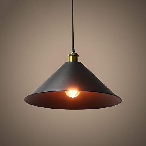 Jtivcs Colgante de metal industrial negro Instalación de luz Retro E27 Casa...