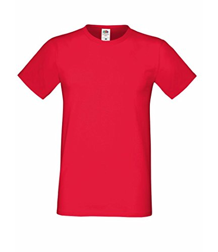 Fruit of the Loom Herren T-Shirt Rot - Rot