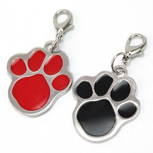 2X Mascota Perro Gato Placa Identificación ID Nombre Collar Colgante Pet Tag de Pinzhi