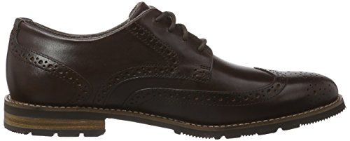 Rockport LH2 Wing Oxford Herren Brogue Schnürhalbschuhe Braun (Dk Brown)