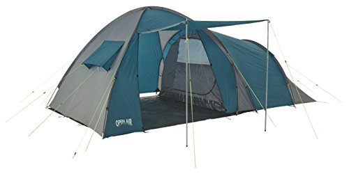 open air  mont blanc unisex outdoor dome tent available in green/grey - 4 persons