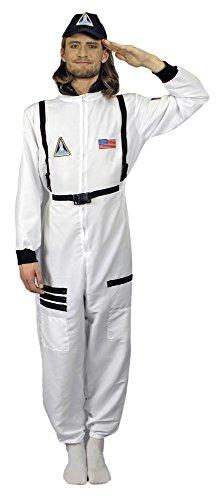 Astronaut Nils Kostüm für Herren Gr. 54 56 - Tolles Weltraum Weltall Fahrer Kostüm für Herren und Damen zu Karneval oder Mottoparty