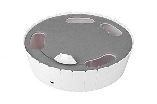elektronisches katzenspielzeug Europet Bernina 409-417744 Katzenspielzeug D&D Aventure Mouse-Hunter, 26.5 X 26.5 X 7 cm, weiß