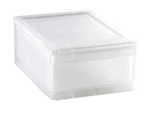 Sundis 4113003 CLEAR DRAWER Plastique, Transparent, 8L