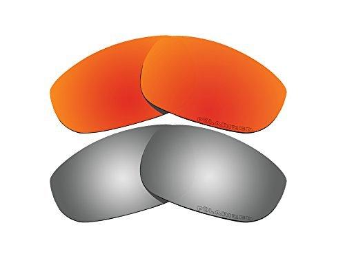 Polarisierte Ersatzgläser, Rot und Schwarz, Spiegel, für Oakley Fives 4.0 Sonnenbrillen, 2 Paar