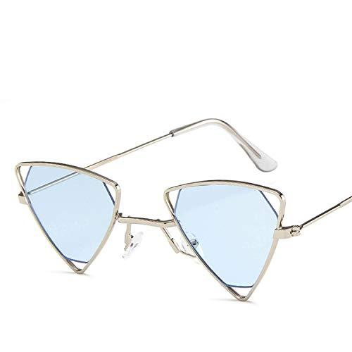 Fashion Classic Männer Dreieck Kleine hohle Rahmen Sonnenbrillen Frauen Retro Punk Metal Sonnenbrillen Brillen, 5 -
