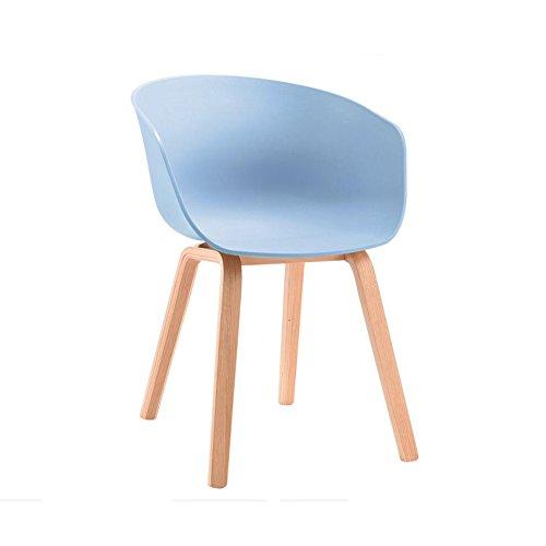 YIXINY Chaise Minimaliste Moderne Chaise À Manger Chaise Fauteuil Office Loisir Club Ménage Pieds En Bois Massif ( Couleur : Bleu )