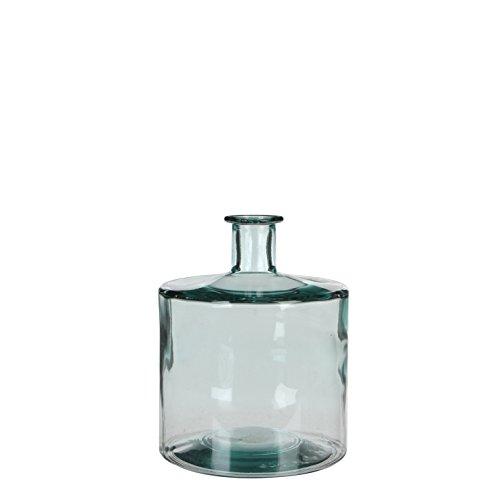 MICA Decorations Guan Flasche/Vase, Glas, transparant, H. 26 cm D. 21 cm