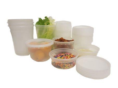 Plástico Microondas congelador seguro redondo estanca alimentos recipientes y tapas