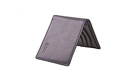BOCA Portafogli Tascabile da Uomo con Blocco RFID, Custodia Carte di Credito Sottile e Minimalista, Porta Carte in Vera Pelle, Nero
