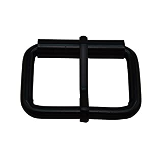 Amanaote Black 1.5X0.8 Inner Size Non Welded Rectangle Buckle with sliding Pin for Strap Pack of 8 by Amanaote