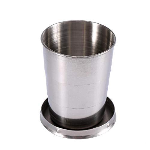 Haofy 240ML / 140ML / 75ML3 Größe Optional Alle Edelstahl Teleskop Cup Folding Cup,...