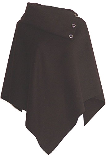 Mantello Cappotto Poncho Giacca da donna pile Lana elasticizzato Pierre-cedric nero Da 40 a 48