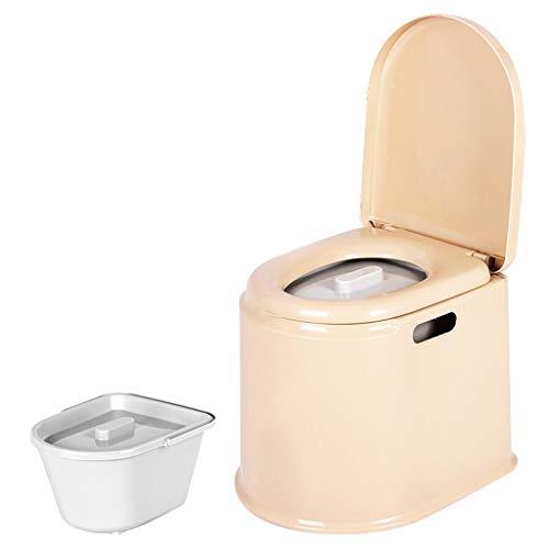 LI JING SHOP - Portable Toilettenstuhl Alter Mann mit schwangeren Frauen Kind beweglichen Kunststoff Nehmen Sie einen Hocker ( Farbe : Khaki , größe : #-001 )