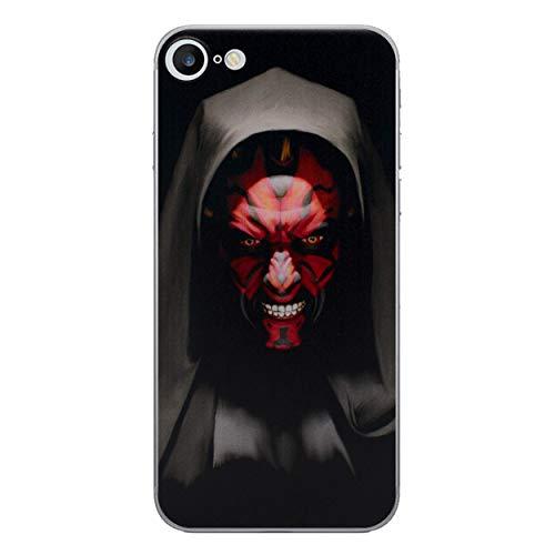 s Silicone Hülle / Gel Abdeckung für Apple iPhone 6S 6 / Displayschutzfolie und Tuch / iCHOOSE / Darth Maul ()
